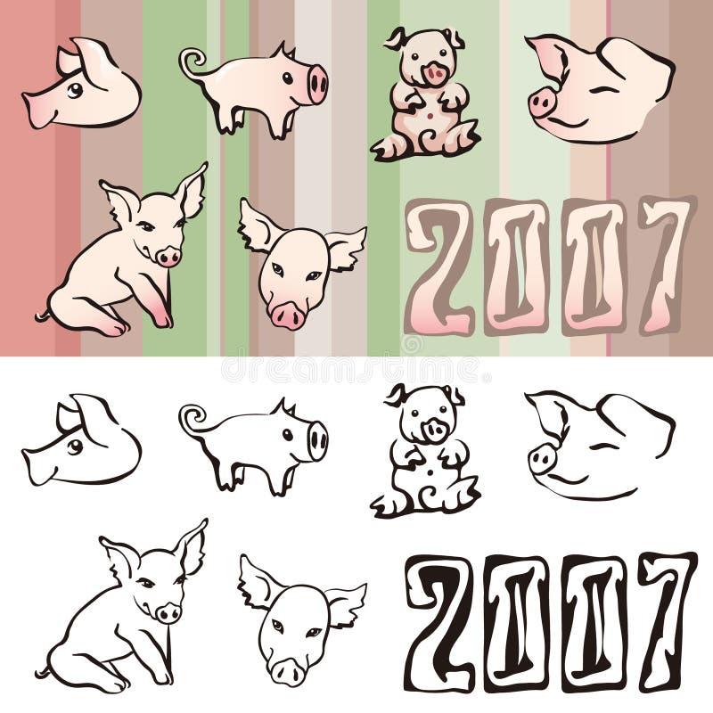 свиньи иллюстрация штока