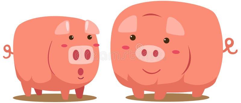 свиньи иллюстрация вектора