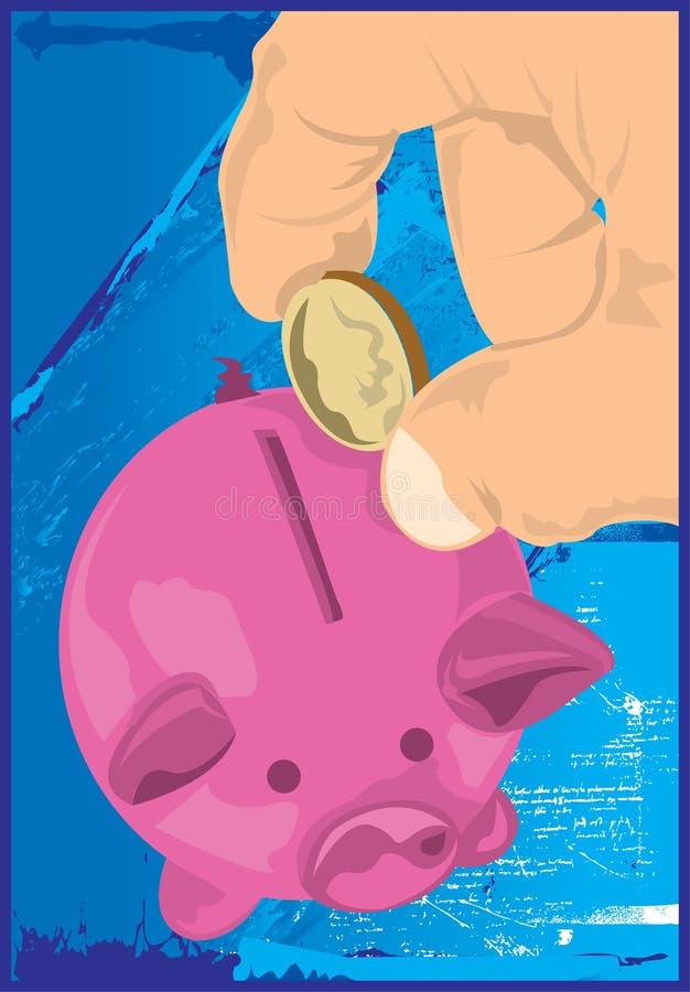 свинья дег банка иллюстрация вектора