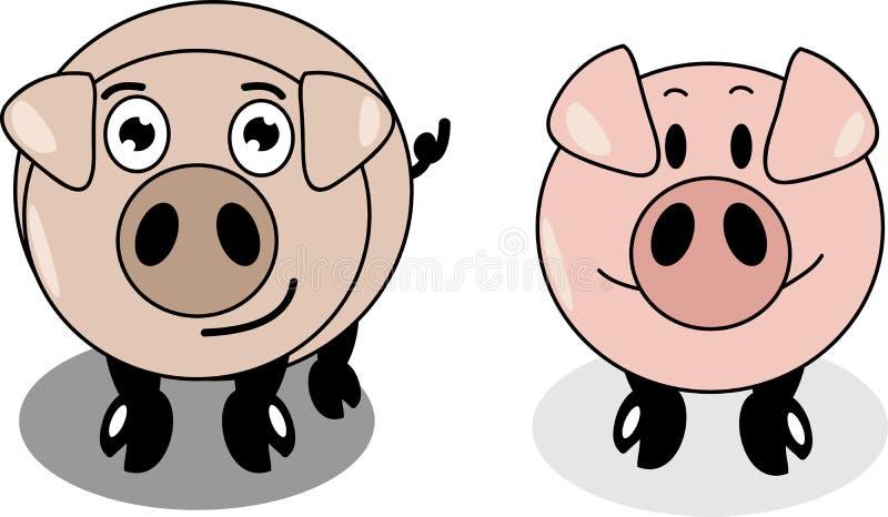 Download Свинья шаржа иллюстрация вектора. иллюстрации насчитывающей круг - 37930702