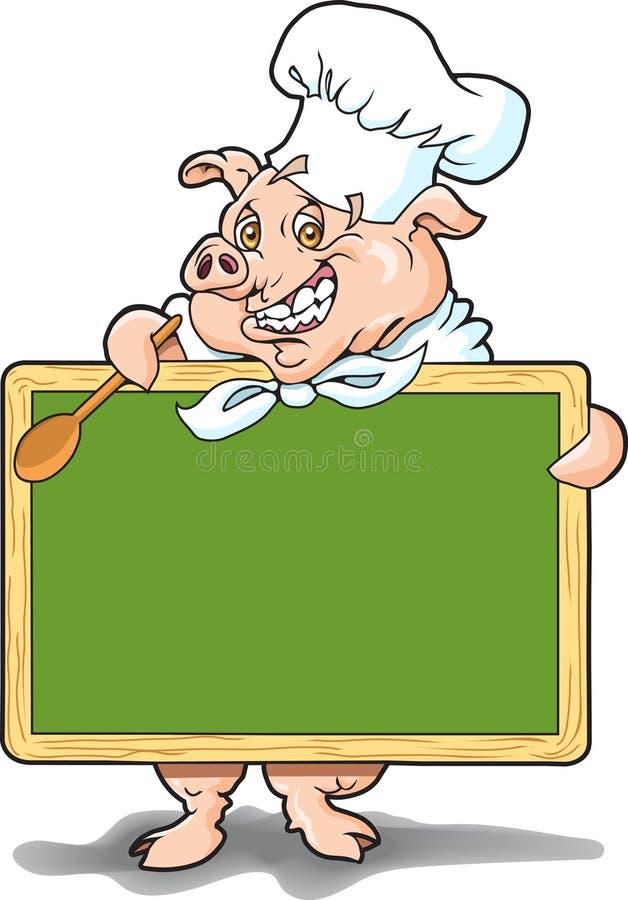 свинья chalkboard бесплатная иллюстрация