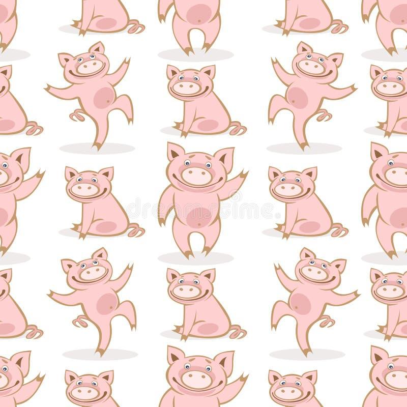 Свинья seamless-13 иллюстрация вектора