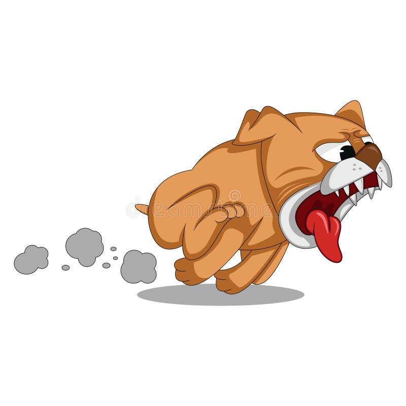 Свирепая собака побежали и шарж гоньбы бесплатная иллюстрация