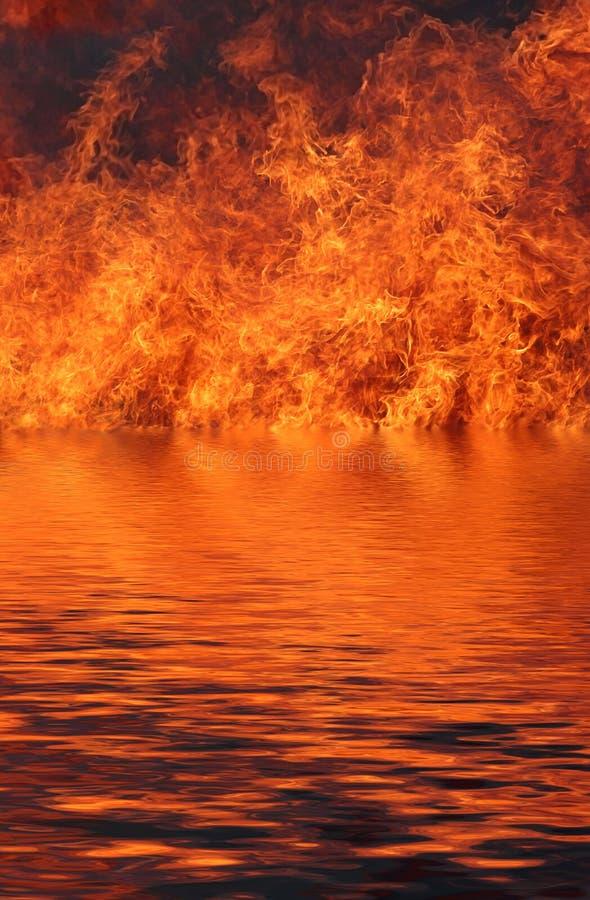 свирепствовать пожара стоковое изображение