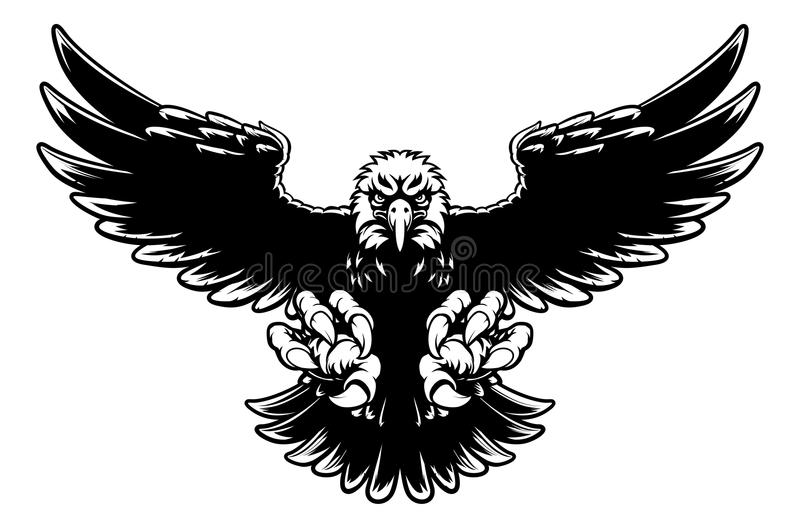 Свирепый талисман орла бесплатная иллюстрация