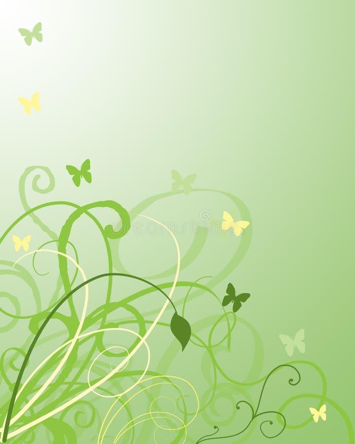 свирли листва бабочек бесплатная иллюстрация