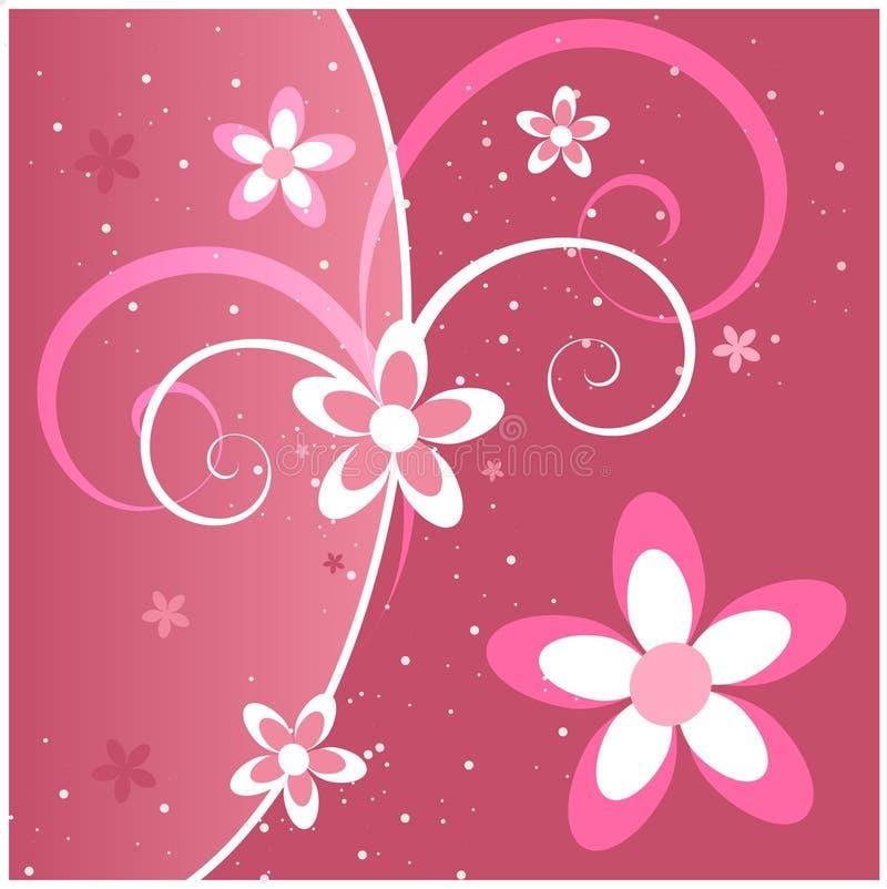 свирли пинка цветков иллюстрация штока
