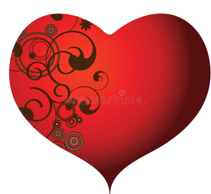 свирли сердец иллюстрация штока