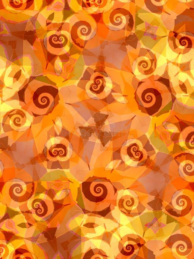 свирли солнцецвета предпосылки иллюстрация вектора