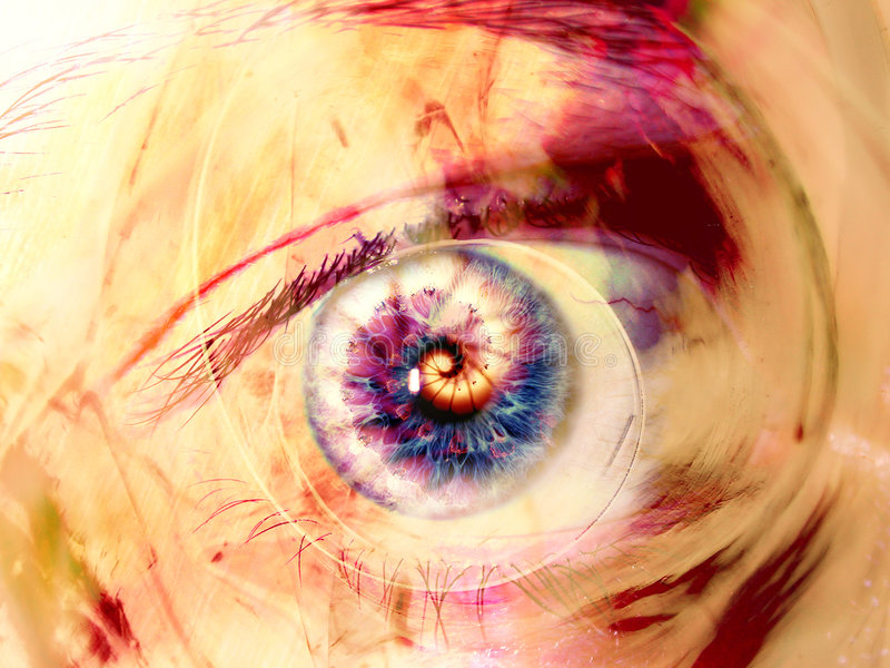 свирли фрактали глаза искусства цифровые бесплатная иллюстрация
