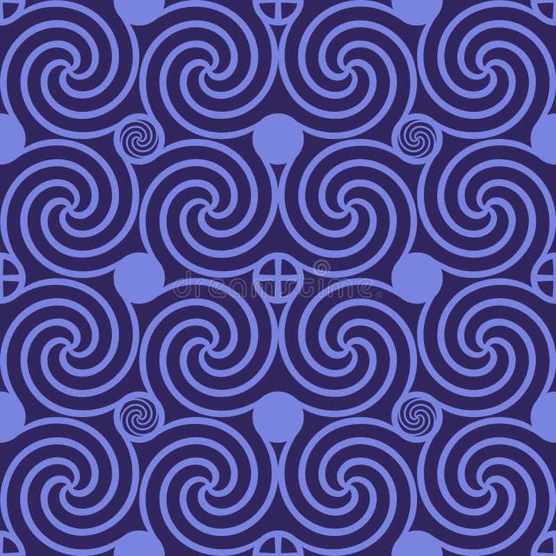 Свирль безшовной картины темная фиолетовая иллюстрация вектора