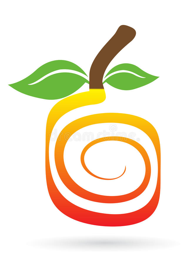 свирль логоса плодоовощ иллюстрация вектора