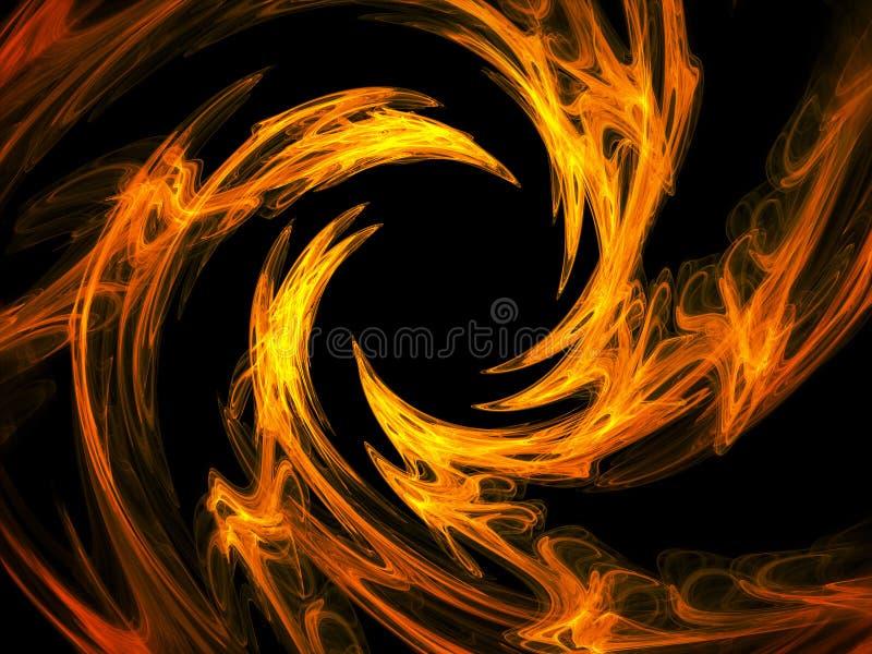 свирль пожара иллюстрация штока
