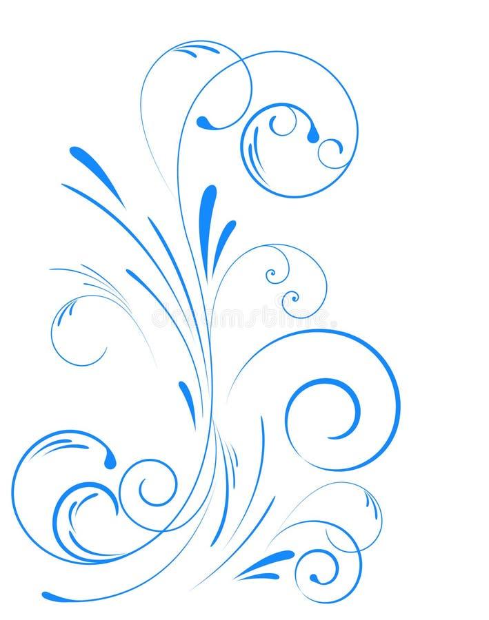 свирль флористического орнамента иллюстрация вектора