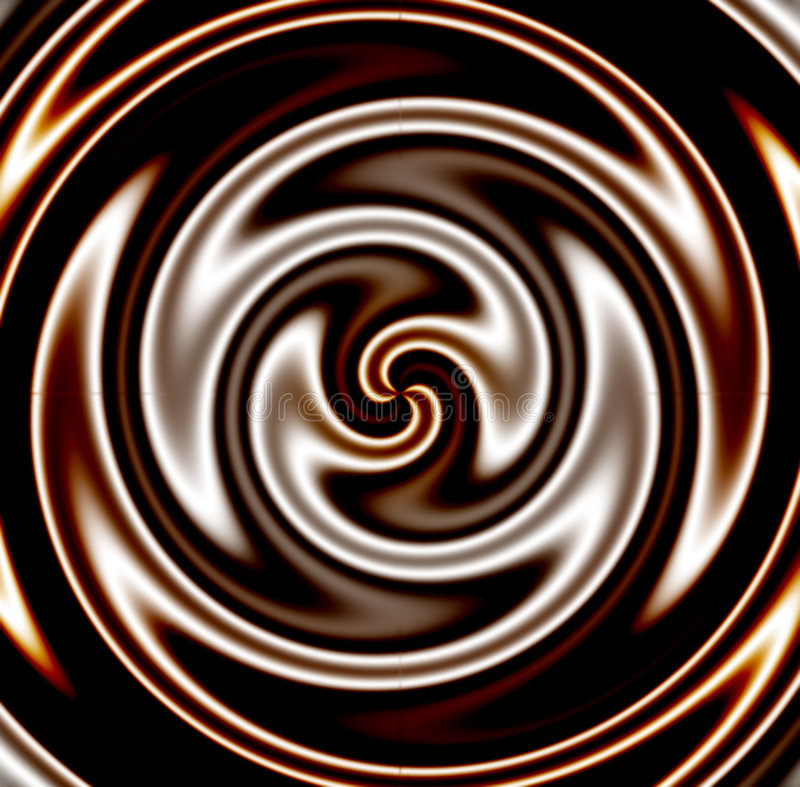 свирль шоколада темная иллюстрация штока