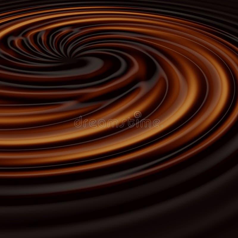 свирль шоколада иллюстрация штока