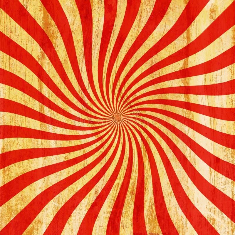 Свирль Grunge красная и оранжевая винтажная sunburst, предпосылка t twirl бесплатная иллюстрация