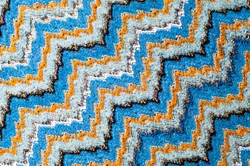 Свитер картины текстуры шерстей ткани Missoni стоковая фотография rf