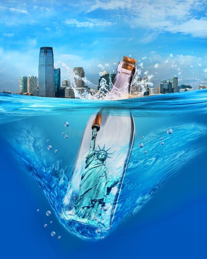 Свобода в бутылке стоковое изображение rf