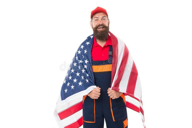 Свобода дышит жизни к нациям Патриотический деятеля празднуя американскую свободу на День независимости стоковые фотографии rf
