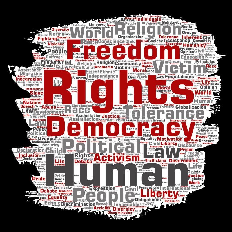 Свобода прав человека вектора политическая, демократия бесплатная иллюстрация