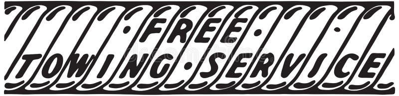 Свободное буксируя обслуживание бесплатная иллюстрация
