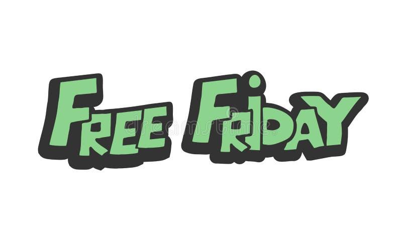 Свободное сообщение пятницы бесплатная иллюстрация