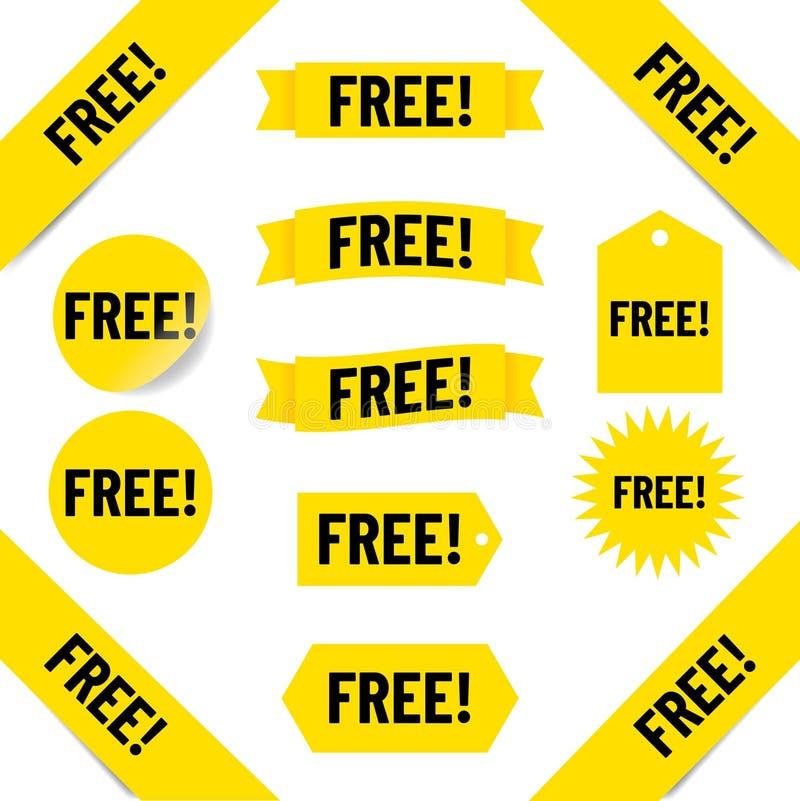 свободные бирки сбываний бесплатная иллюстрация