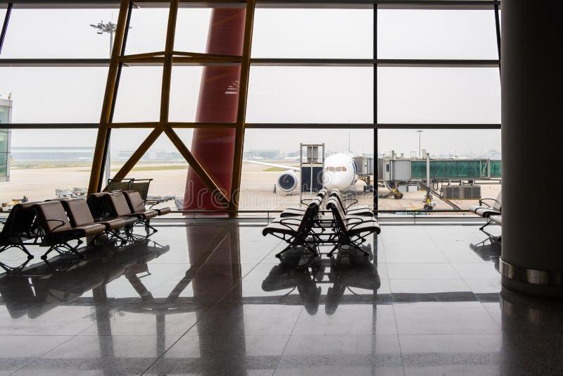 Свободные места на терминале ariport стоковая фотография