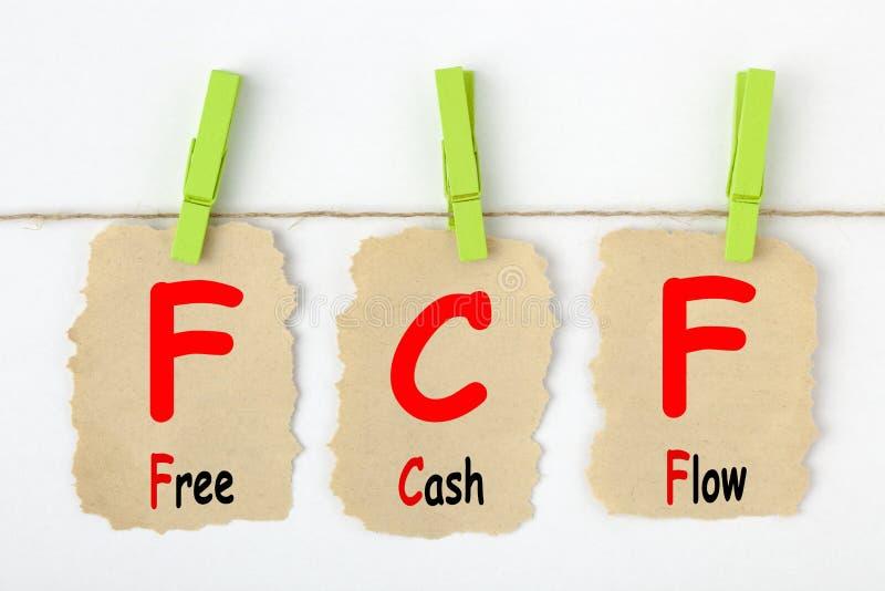 Свободный денежный поток FCF стоковые изображения