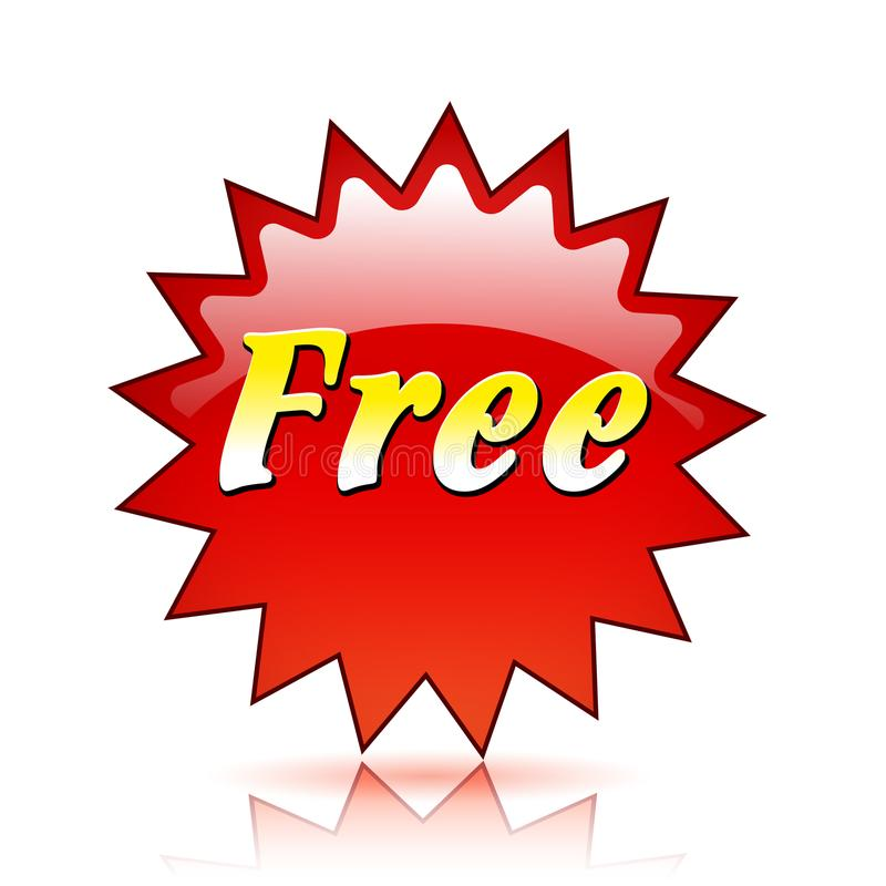 Свободный красный значок звезды бесплатная иллюстрация