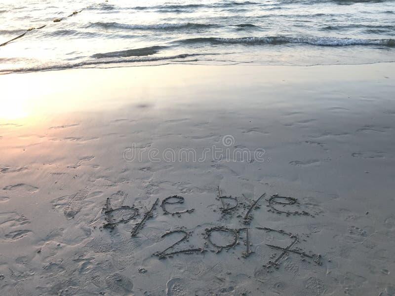 Свободный от игры день - год 2017 свободного от игры дня на пляже стоковое изображение