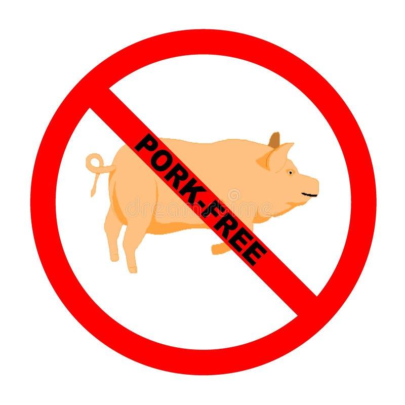 свободный текст символа свинины иллюстрация вектора