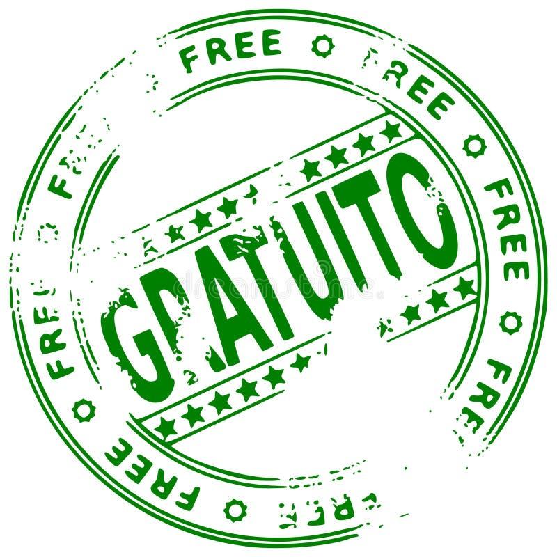 свободный штемпель испанского языка grunge иллюстрация штока