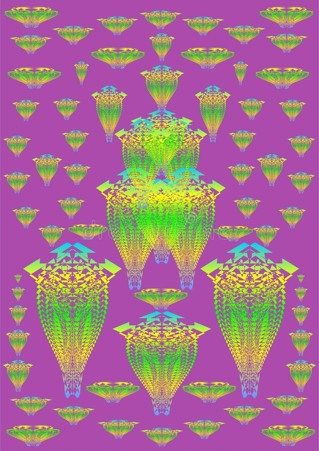 свободный tracery темы 25 иллюстрация вектора
