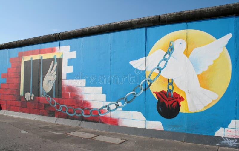 Свобода граффити Берлинской стены стоковая фотография rf