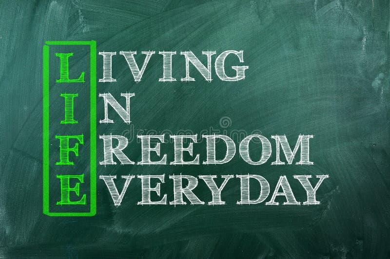 Свобода жизни стоковая фотография rf