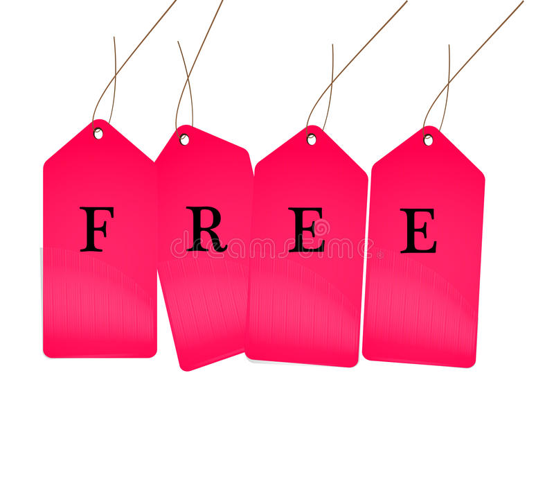 Свободная бирка продаж бесплатная иллюстрация