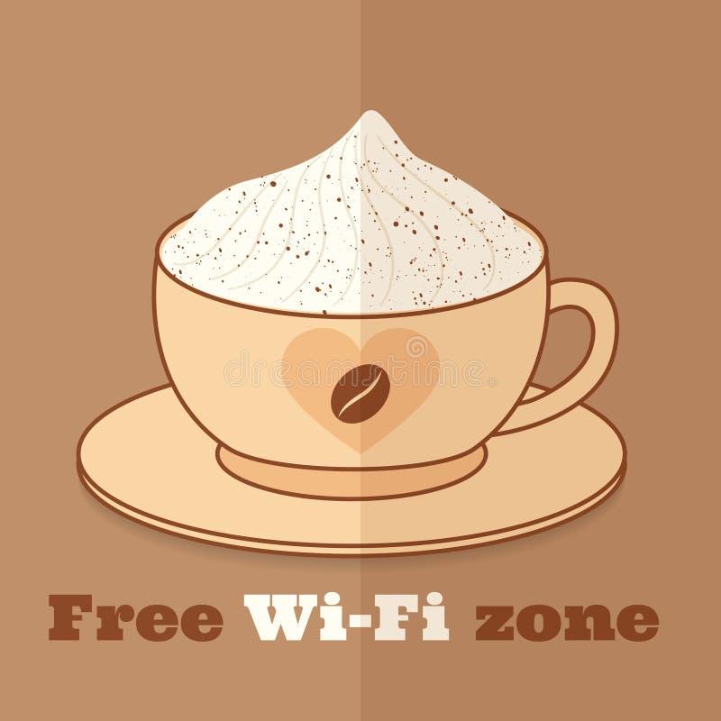 Свободная зона wifi иллюстрация вектора