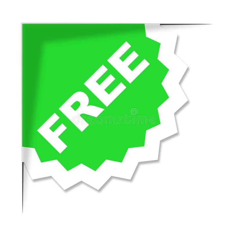 Свободные середины ярлыка с нашими комплиментами и бесплатным удовольствием иллюстрация штока