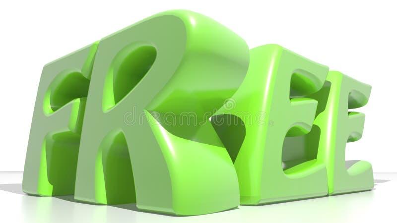 Свободный зеленый цвет иллюстрация штока