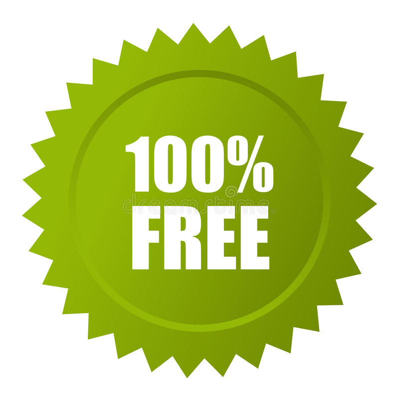 свободный значок вектора 100 иллюстрация вектора