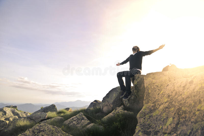 свободный человек стоковое фото