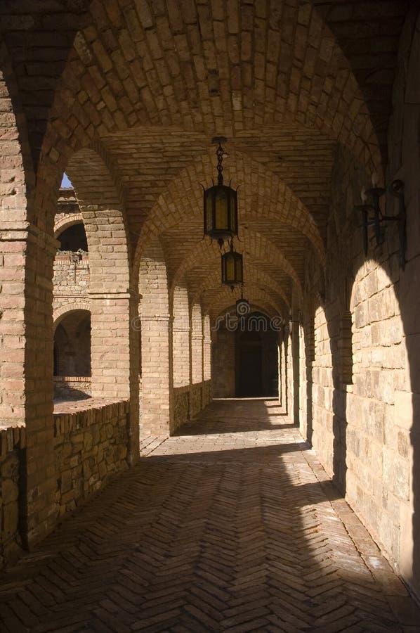 Своды монастыря стоковое фото rf