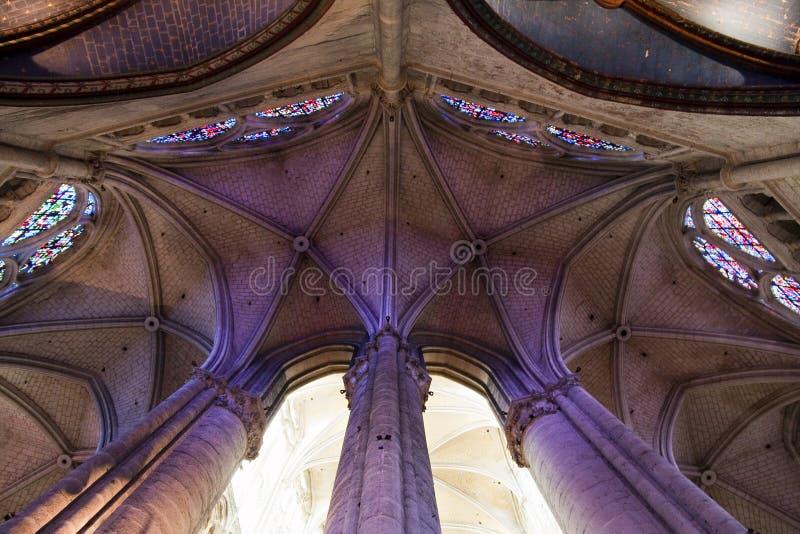 своды собора beauvais apse стоковые изображения