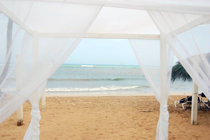 Свод свадьбы на пляже стоковые изображения rf