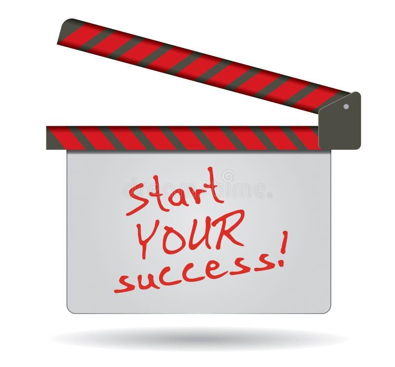 Свое время начать ваш успех иллюстрация штока