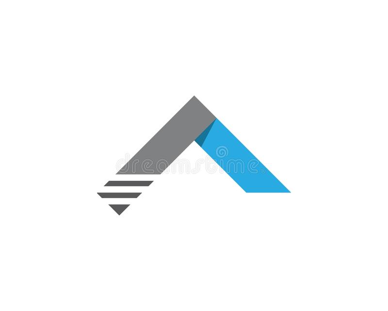 Свойство и домашний логотип иллюстрация вектора