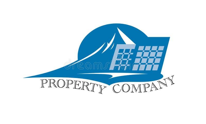 свойство офиса логоса дома имущества конструкции реальное иллюстрация штока