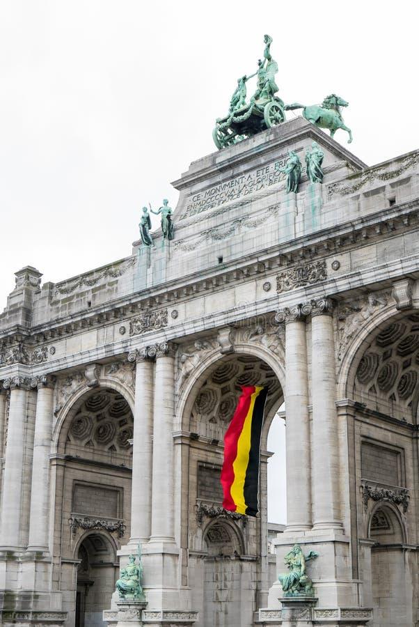 Свод Брюсселя триумфальный стоковое фото rf